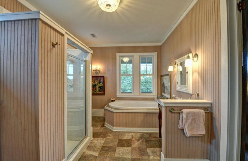 Vacation rental bathroom at Century 21 Action Inc.