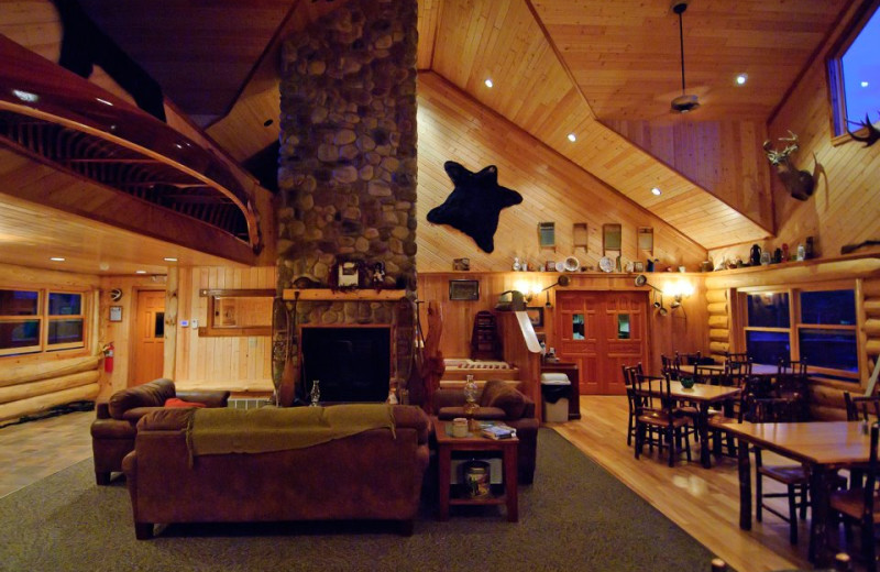 Lobby at Hungry Jack Lodge.