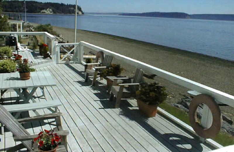 Deck view at August Inn.