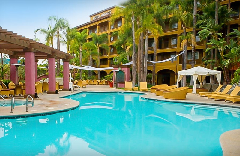 Outdoor pool at Menage Anaheim Boutique Hotel.