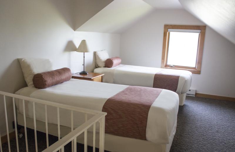 Loft bedroom at Lutsen Resort on Lake Superior.