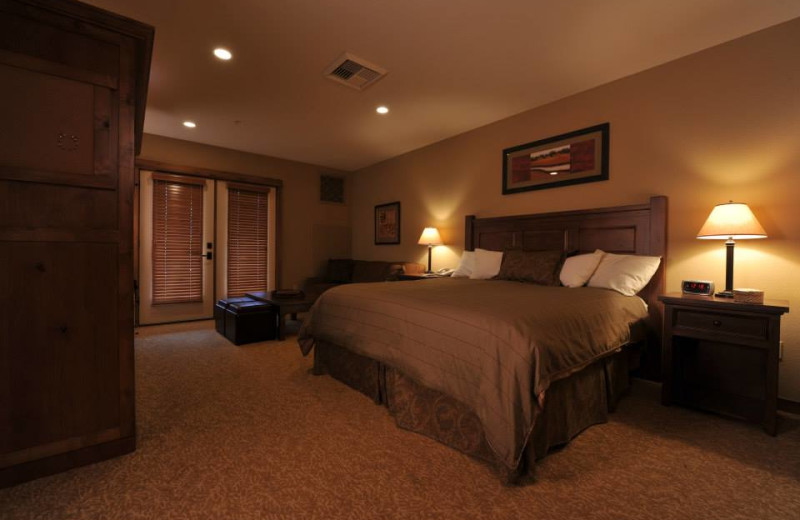 Guest room at Silver Mountain Resort.