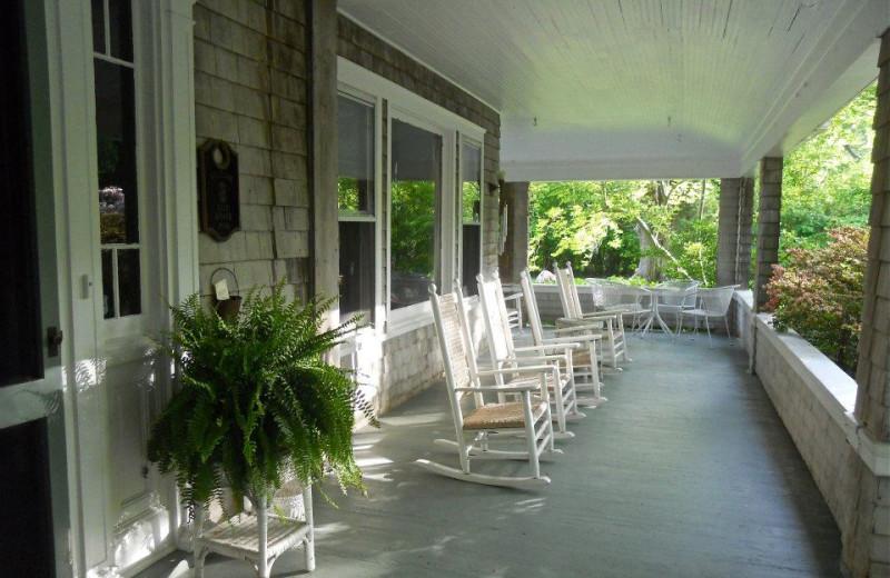 Porch at Orient Inn.
