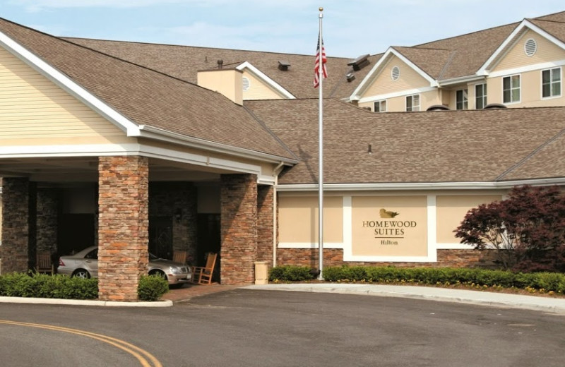 Exterior view of Homewood Suites by Hilton Melville, NY.