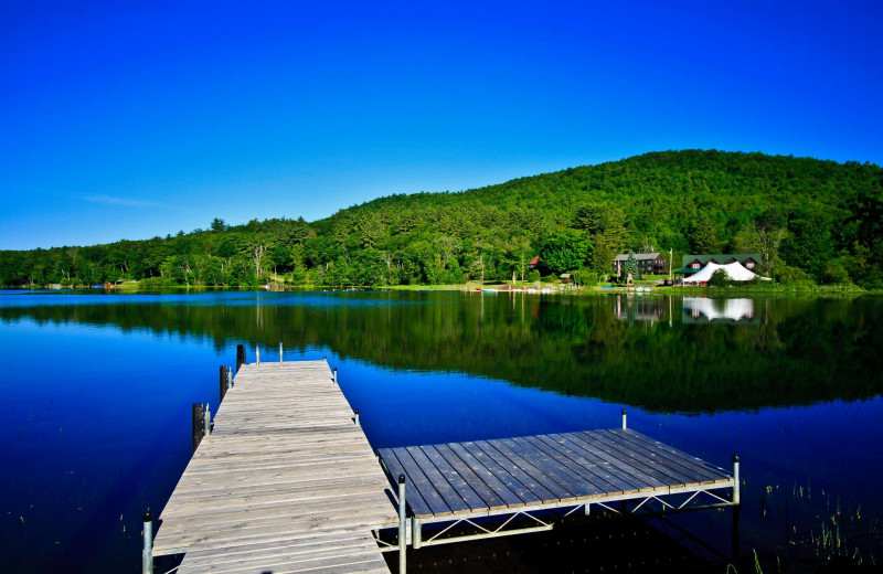 The dock at Twin Pines Resort.