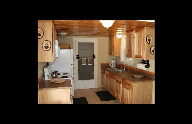 Cottage kitchen at Watson's Harverene Resort.