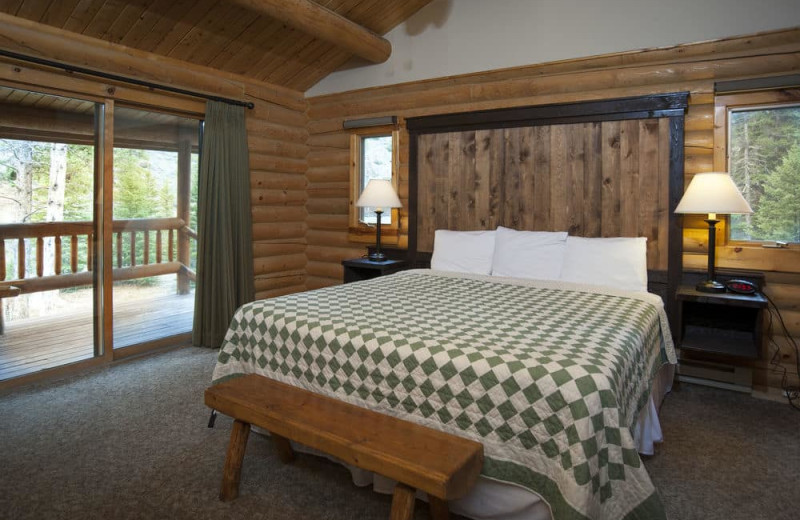 Cabin bedroom at 320 Guest Ranch.