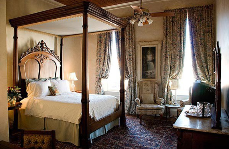 Guest room at Ant Street Inn.