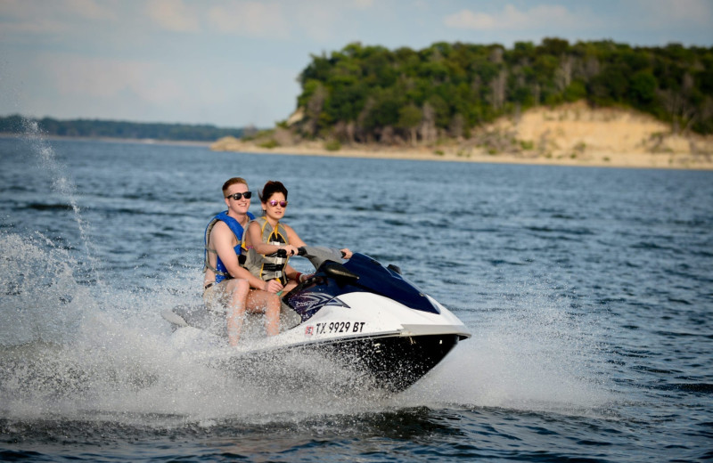 Jet ski at Tanglewood Resort and Conference Center.