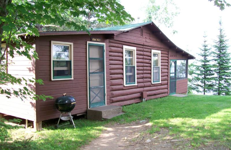 Cabin exterior at Northland Lodge.
