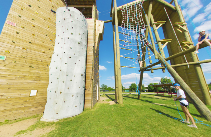 Rope course at Camp Champions on Lake LBJ.