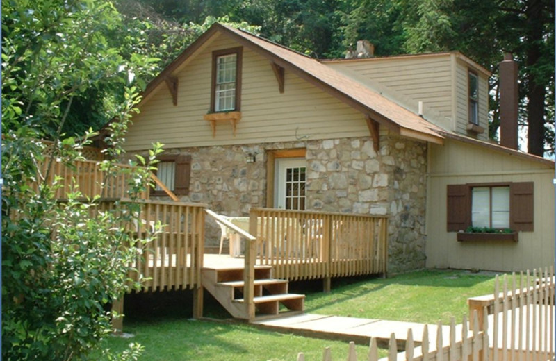 The Stone House cottage at Cheat River Lodge.