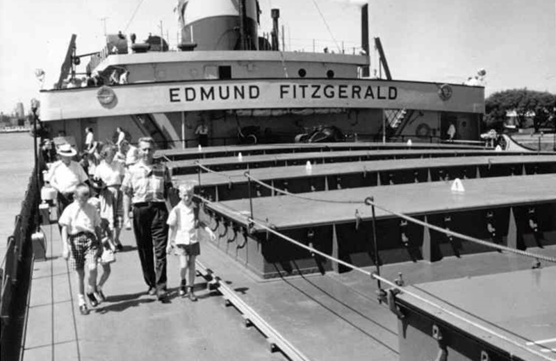 The Edmund Fitzgerald in 1975 at Eagle River Inn.