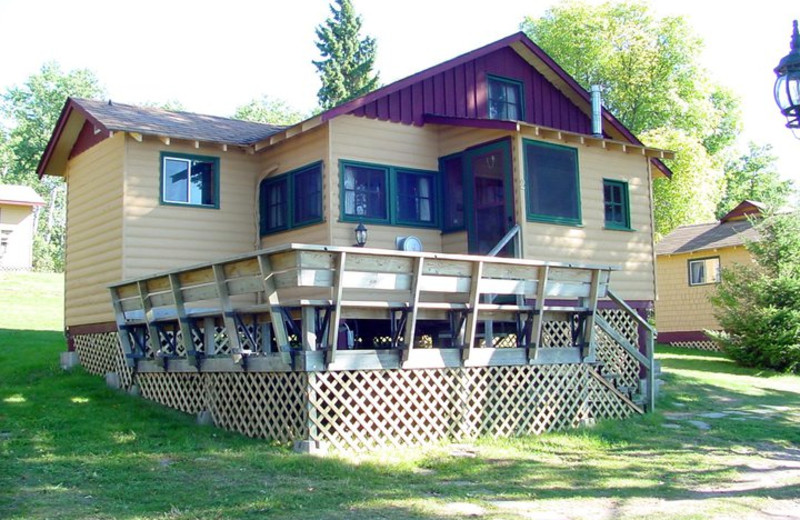 Cabin exterior at Pipestone Point Resort.