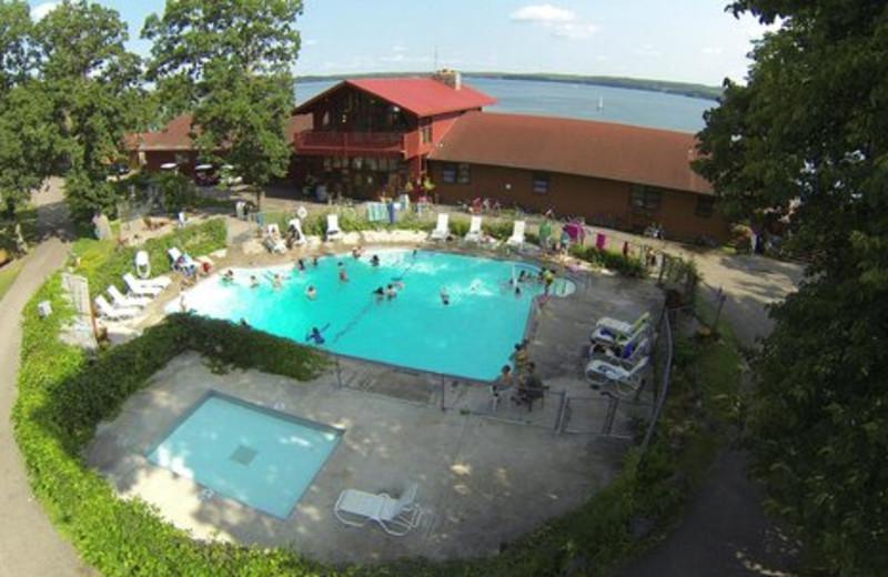 Outdoor pool at Fair Hills Resort.