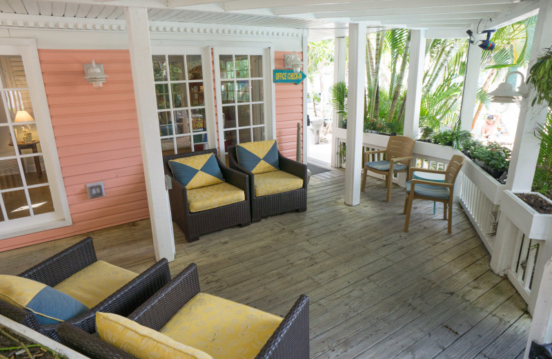 Porch at Lighthouse Resort Inn & Suites.