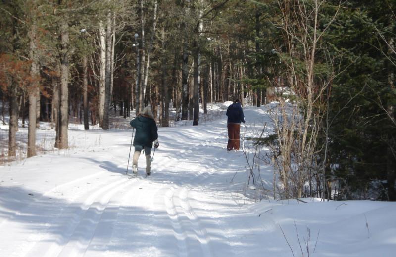 Skiing at Heston's Lodge.