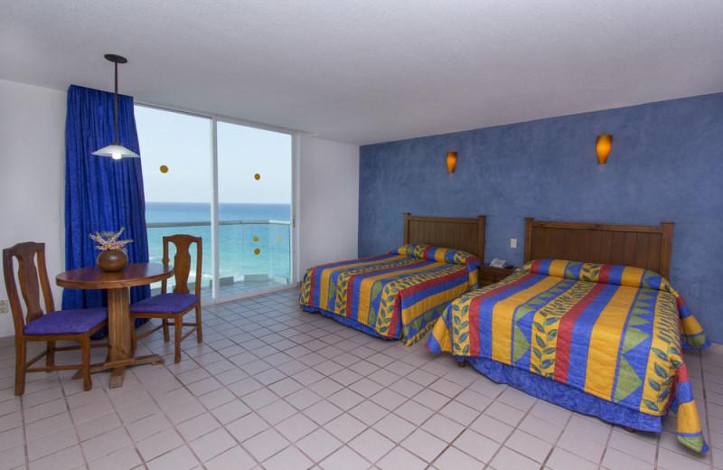 Guest room at Yalmakan Cancun Hotel and Marina.