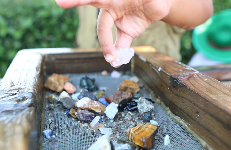 Panning for gems at Yogi Bear's Jellystone Park™ Camp-Resort in Gardiner, NY.