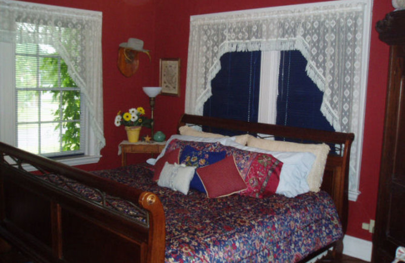 Guest bedroom at Colcord House Bed & Breakfast.