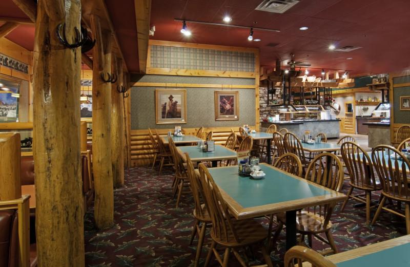 Restaurant interior at Ruby's Inn.
