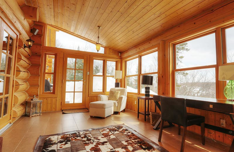 Interior view of Fiddler Lake Resort.