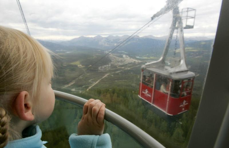 Mountain view at Mount Robson Inn.