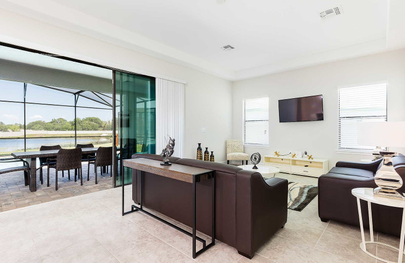 Rental living room at Balmoral Resort.
