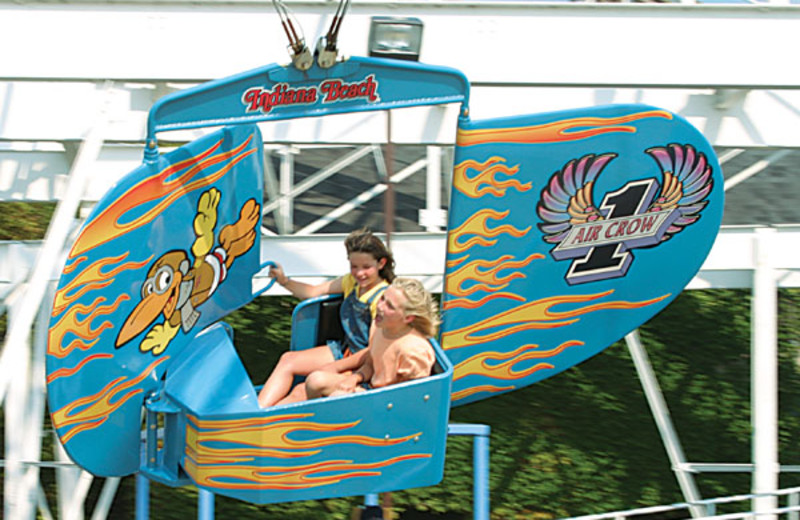 Rides at Indiana Beach Amusement Resort.