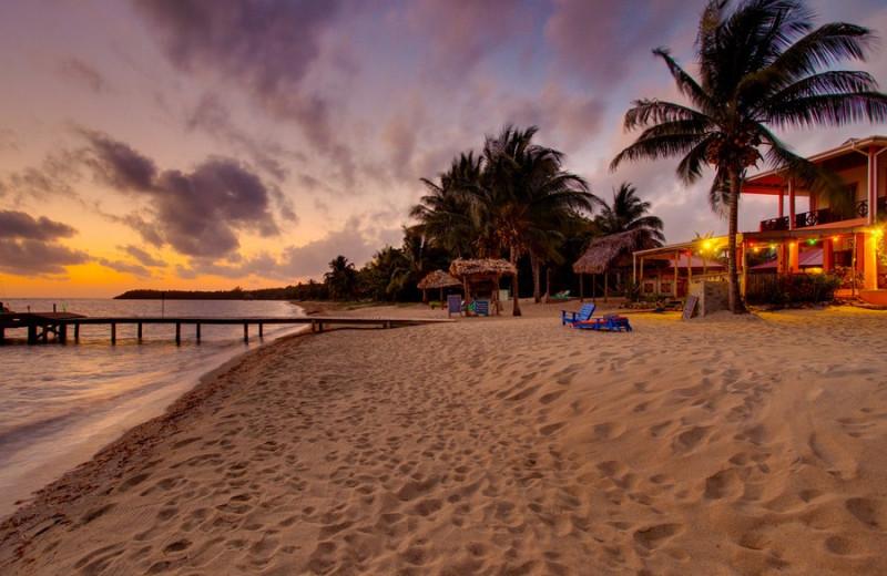 Beach at Beaches and Dreams Seafront Inn & Pub.