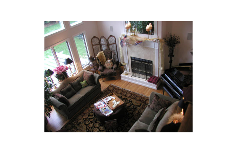 Living room at Canterbury Chateau Bed & Breakfast.