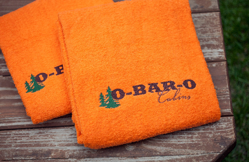 Towels at O-Bar-O Cabins.