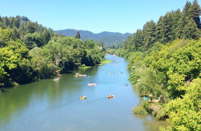 River near Applewood Inn, Restaurant and Spa.