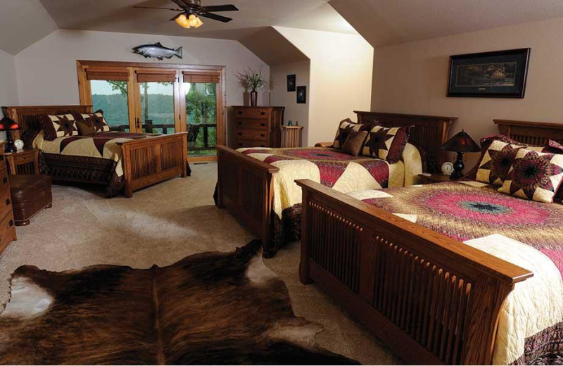 Guest room at The White River Inn.