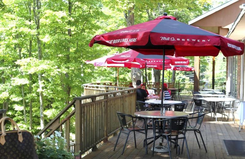 Deck Dining at Hidden Valley Resort Muskoka