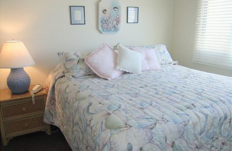 Rental bedroom at Carillon Beach Rentals.