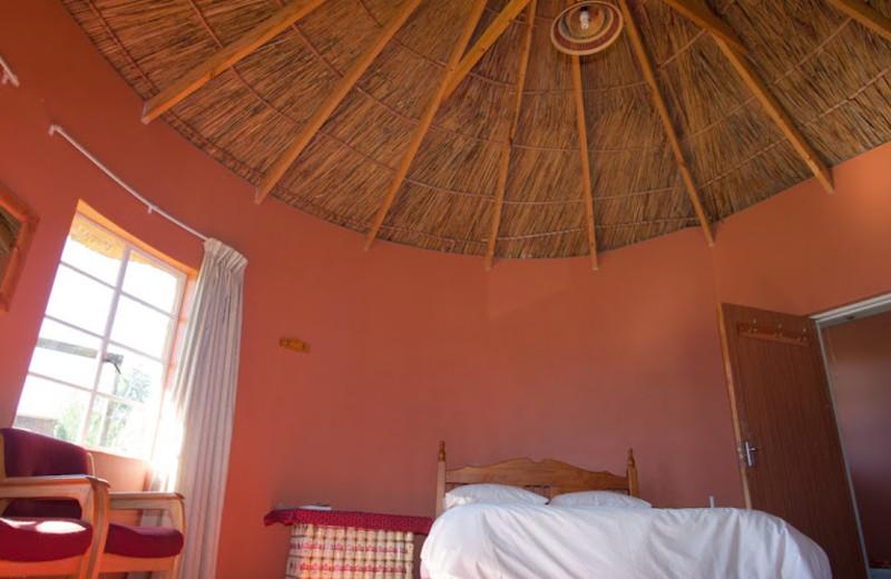 Guest room at Malealea Lodge.