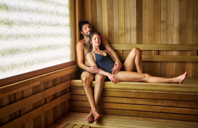 Sauna at he Fairmont Sonoma Mission Inn & Spa.