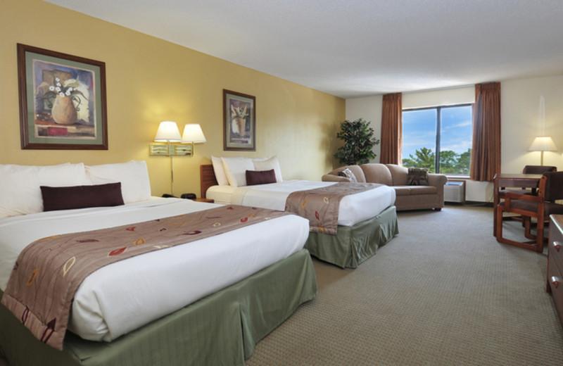 Queen Room at Ramada Wisconsin Dells