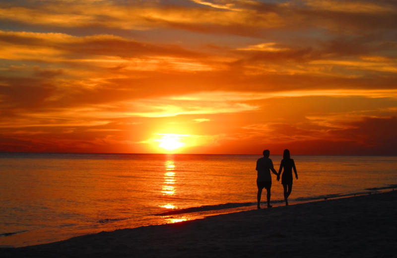 Sunset stroll on the beach at Seascape Resort.