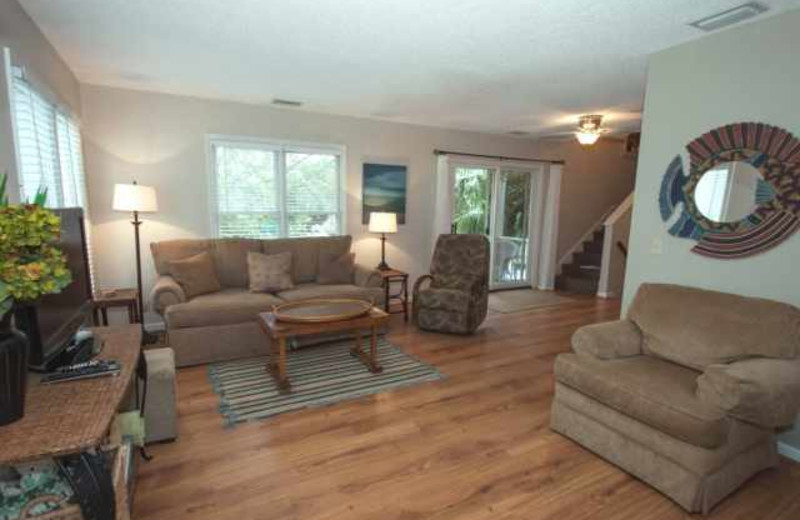 Rental living room at Real Escapes Properties.