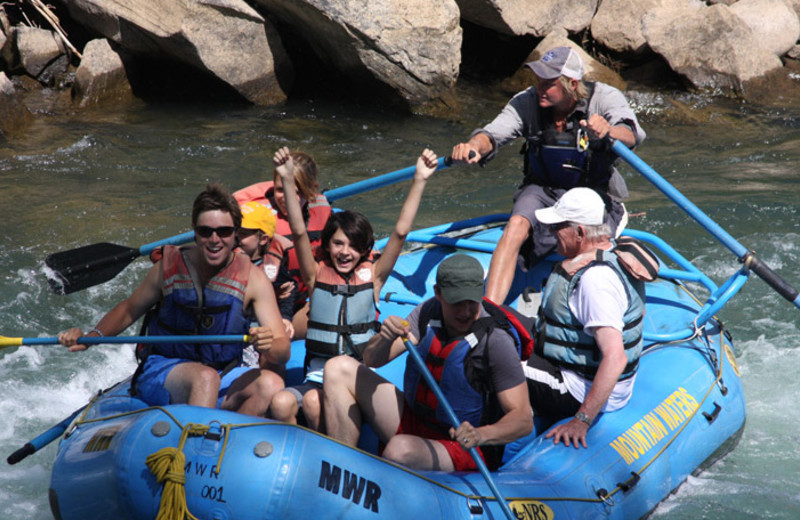 River rafting at Colorado Trails Ranch.