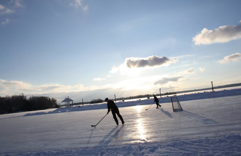 Hockey at Fern Resort.