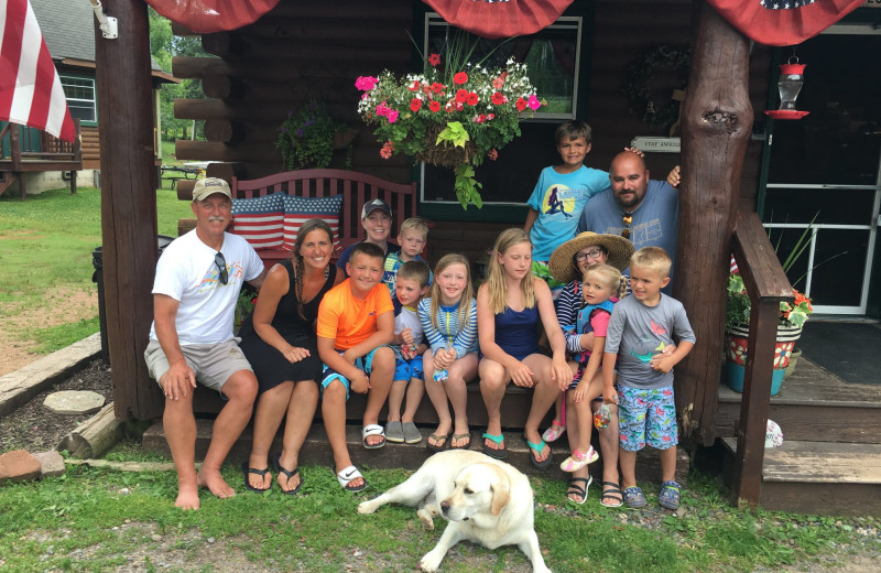 Family at Wilderness Bay Lodge and Resort.