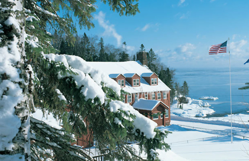 Winter time at Lutsen Resort on Lake Superior.