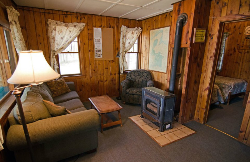 Cabin interior at Delta Lodge.