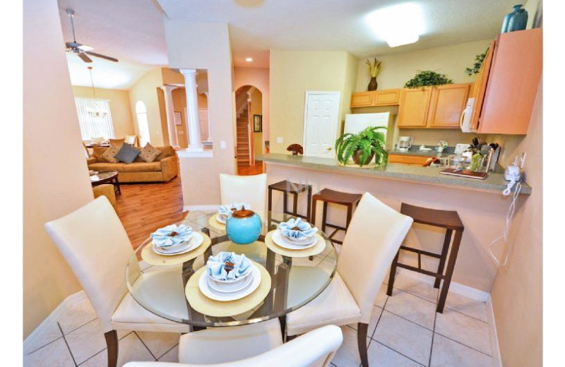 Rental dining room at Favorite Vacation Homes.