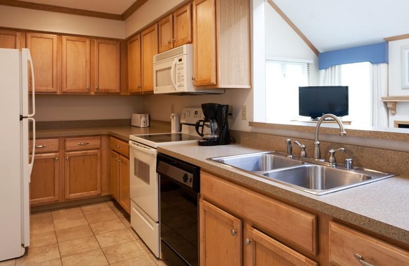 Condo kitchen at Grand Traverse Resort.