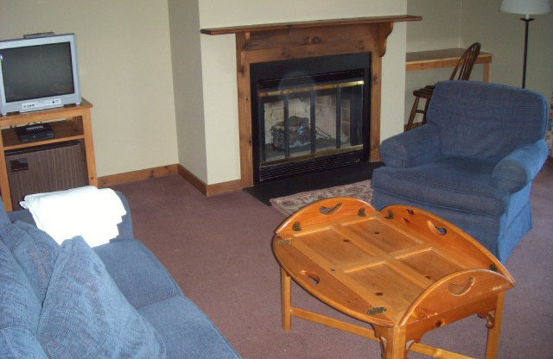 Guest living room at The Inn at Willow Pond.