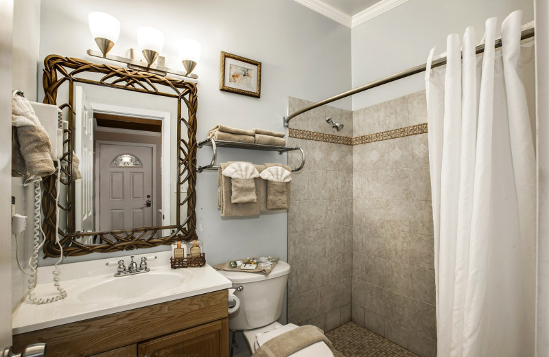Guest bathroom at Beachwood Condos & Resort.